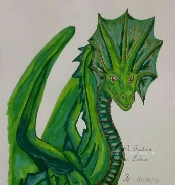 Drache grün - unverkäuflich