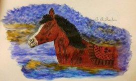 Pferd im Wasser A4