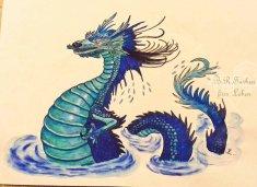 Wasserdrache blau